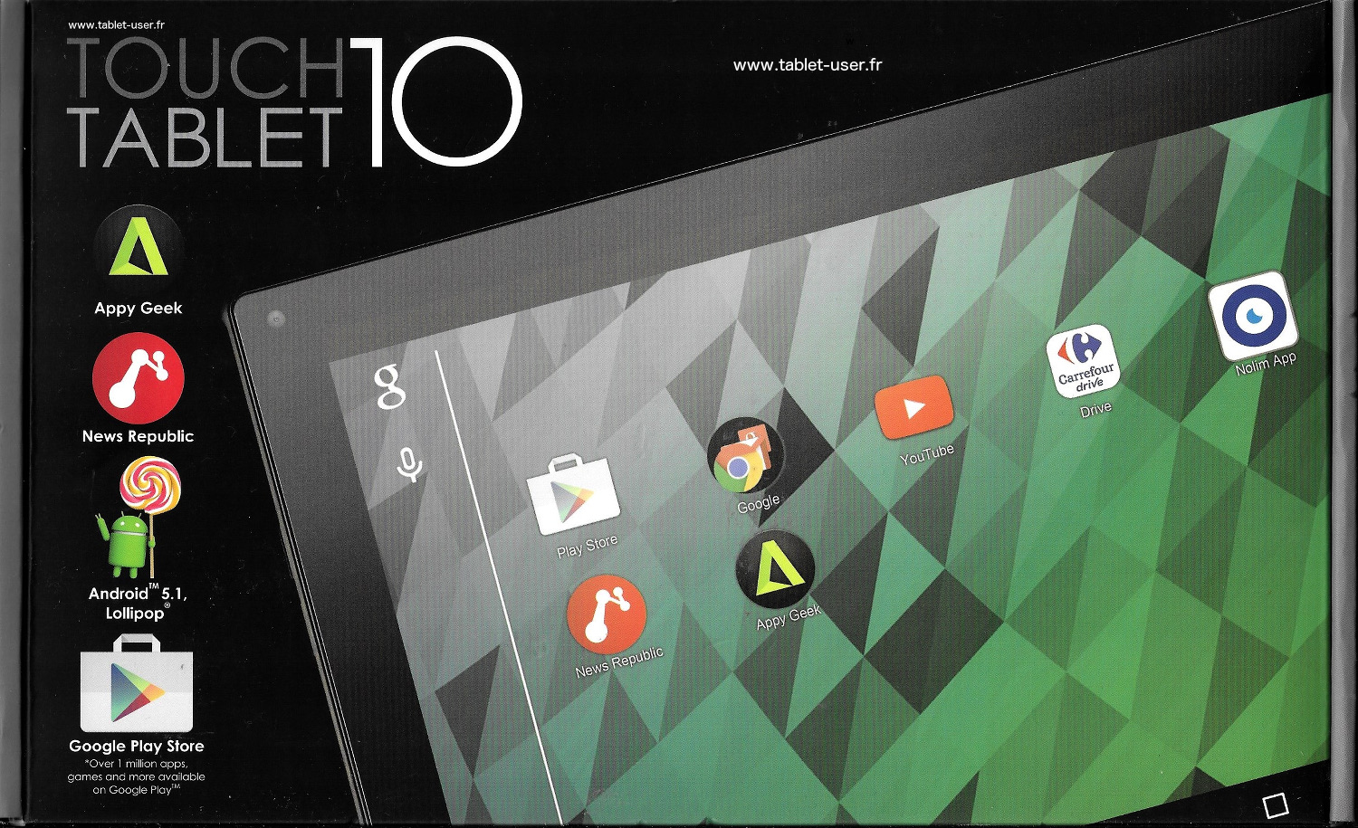 test carrefour touch tablet